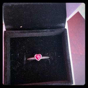Pandora red heart ring